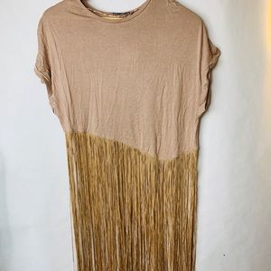 Zara Pink Fringe Size S shirt